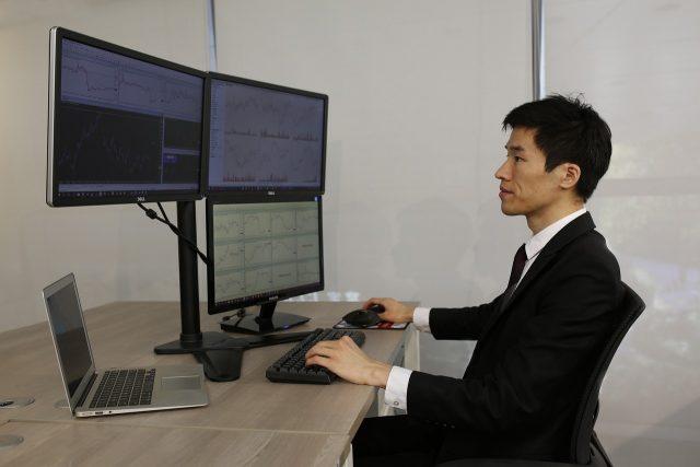 Le trader indépendant au travail